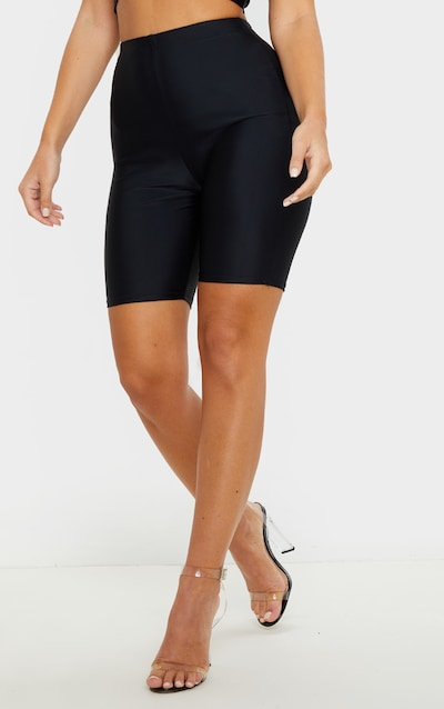 Black Disco Fitted Cycle Short