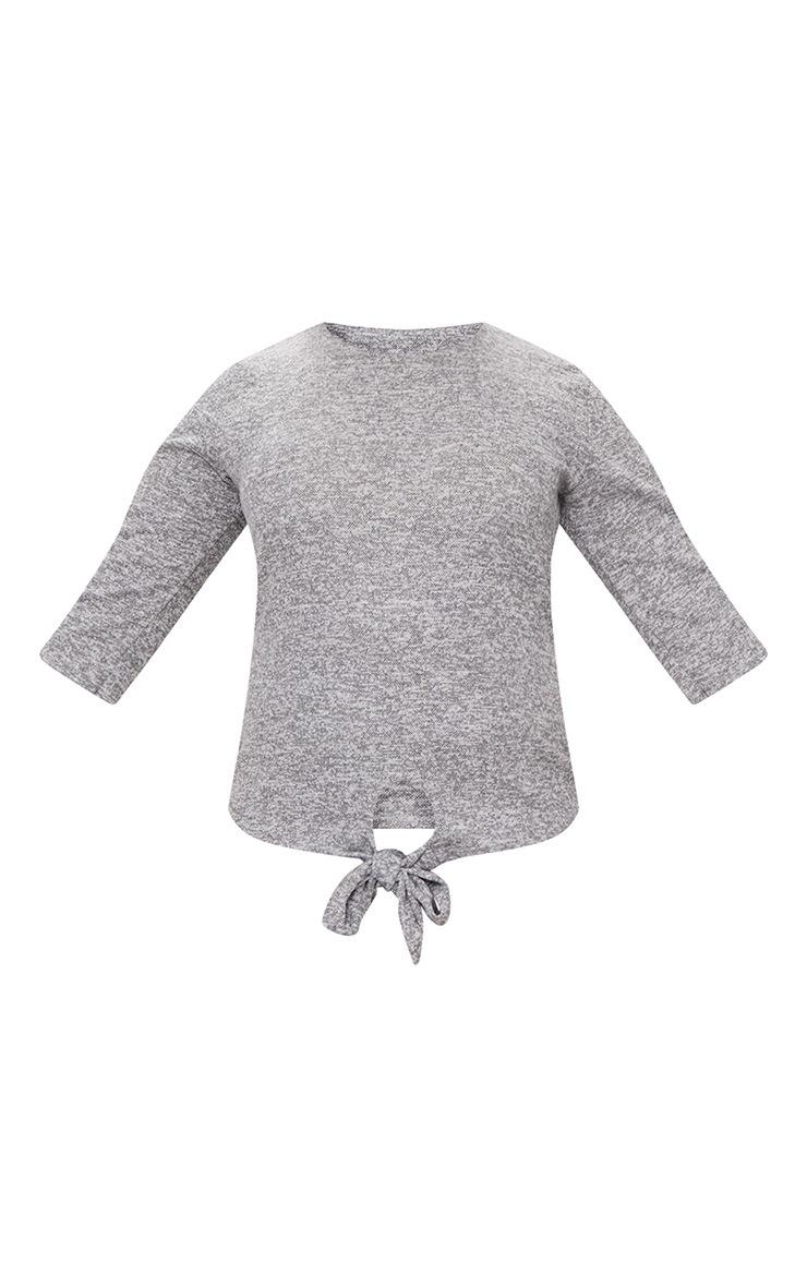 Plus Grey Marl Long Sleeve Top 3