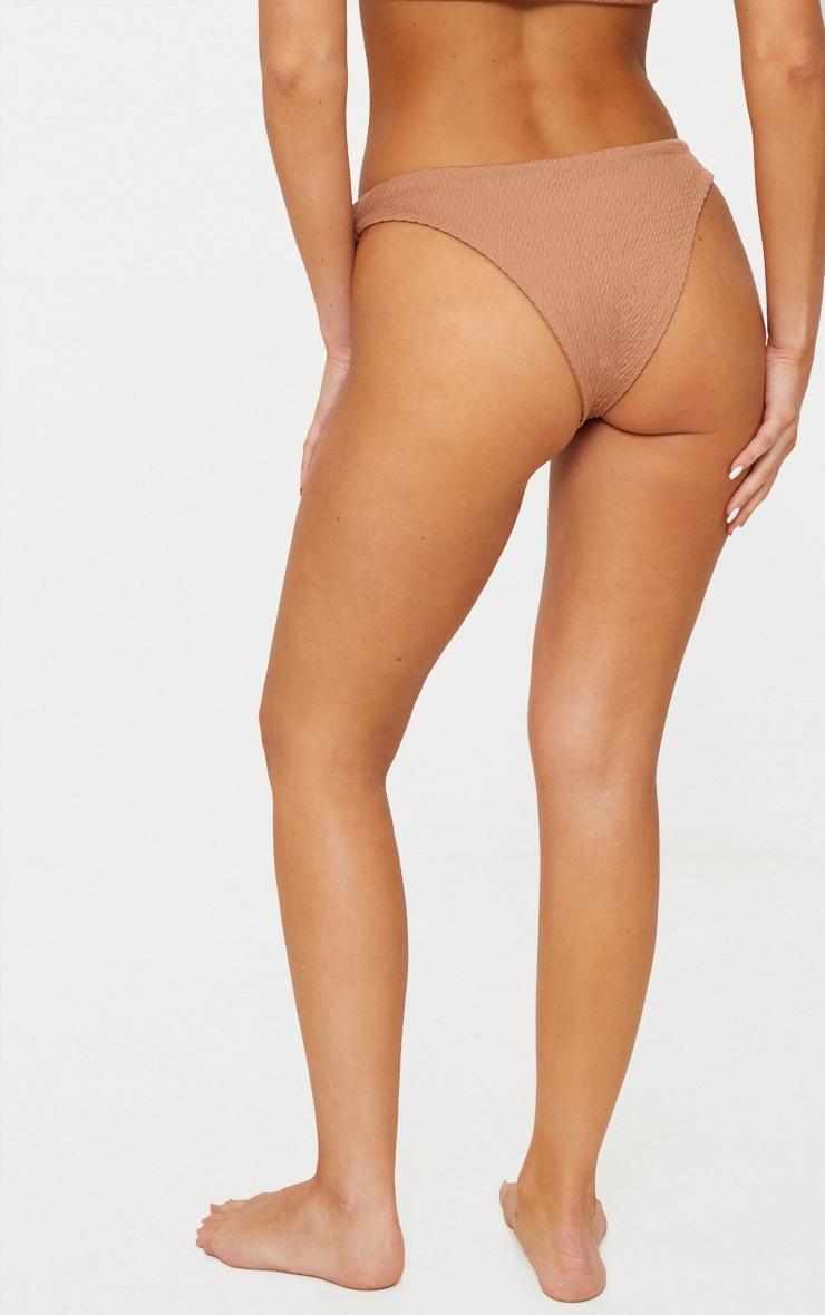 Mocha Crinkle V Front Bikini Bottom 4