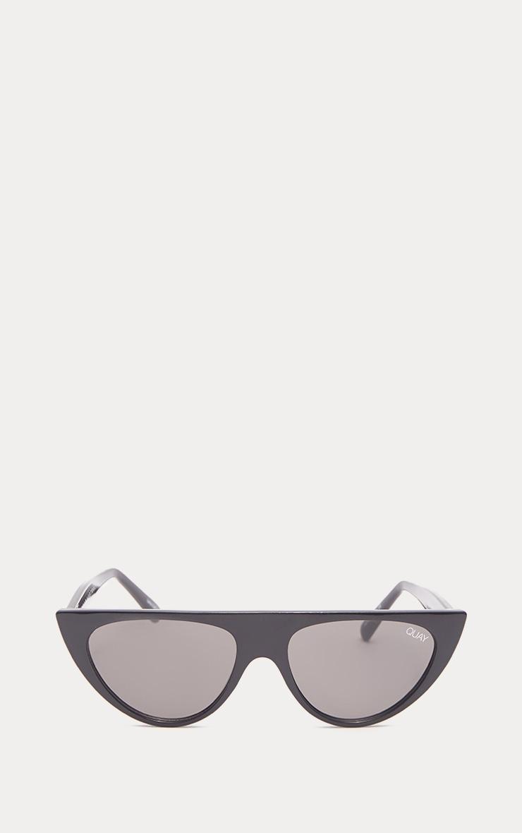 QUAY AUSTRALIA Black Runaway Half Frame Sunglasses 2
