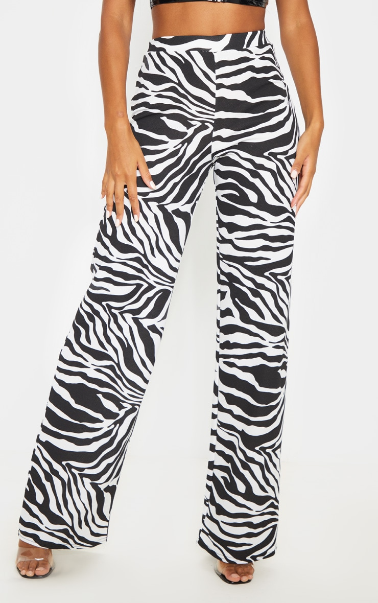Zebra Wide Leg Pants  2