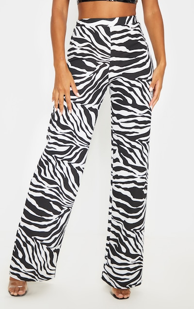 Zebra Wide Leg Trouser