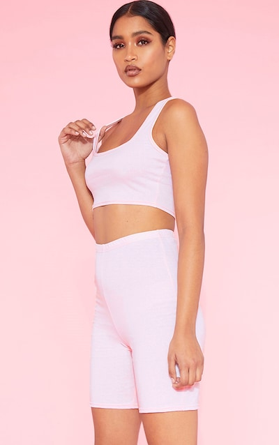 ed252676bbd0c RECYCLED Blush Square Neck Crop Top