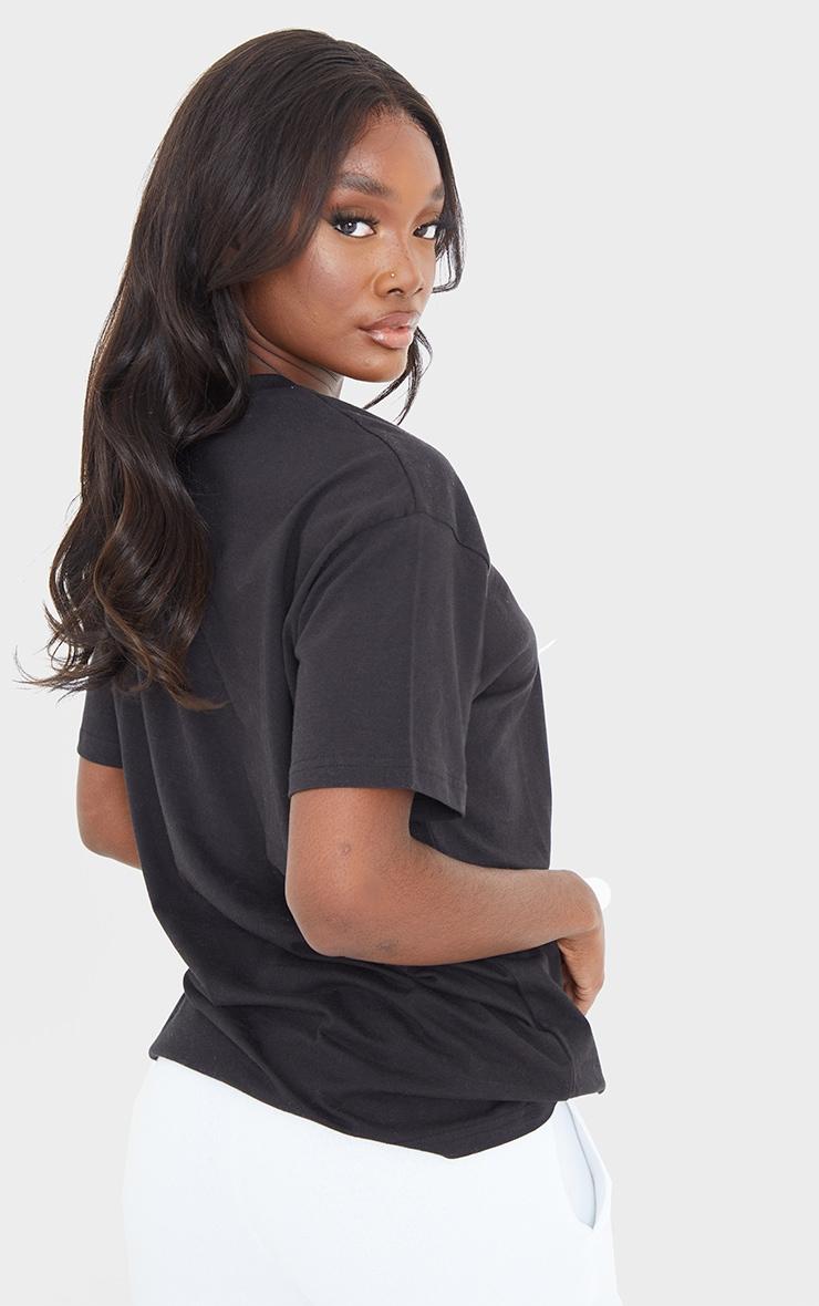 Tall - Tee-shirt noir oversize style boyfriend 2