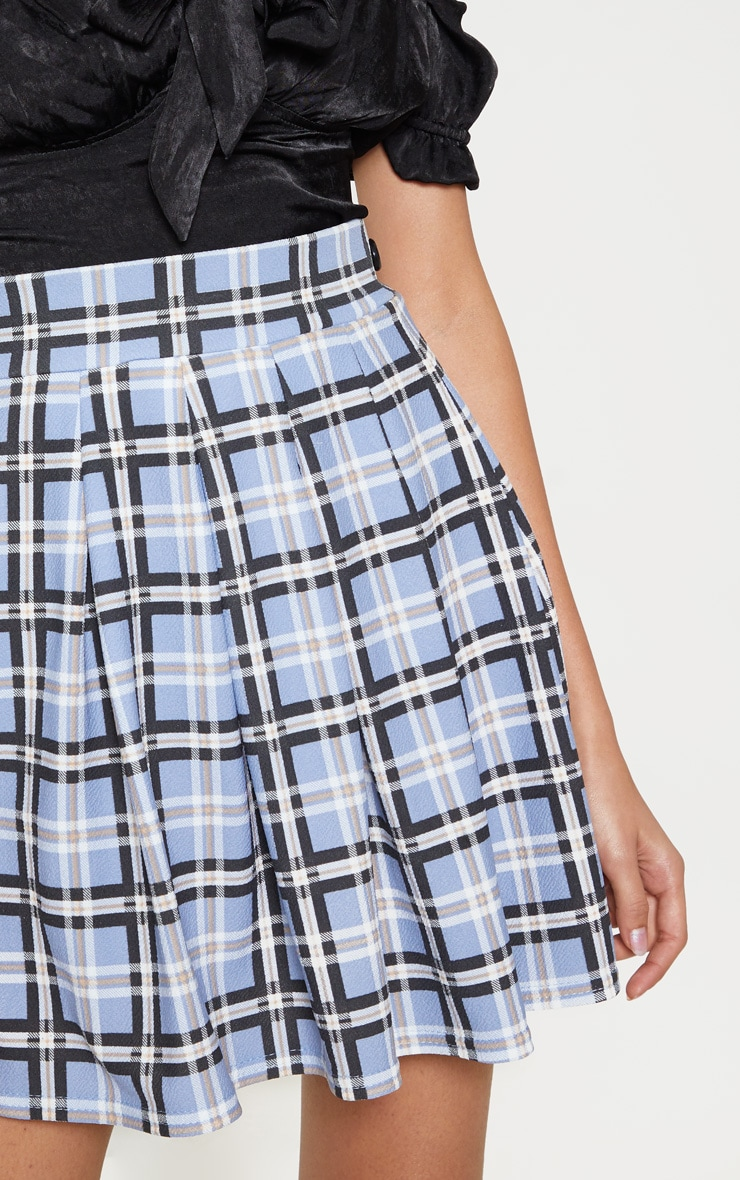 Pastel Check Pleated Tennis Skirt 6