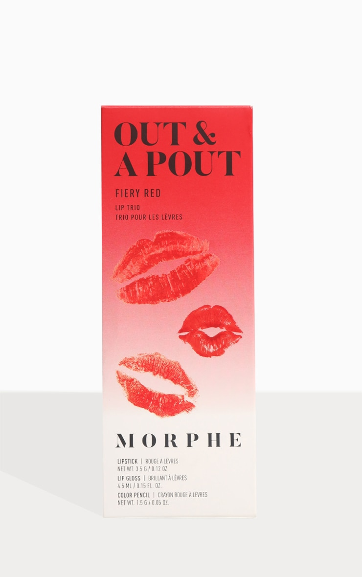 Morphe Out & A Pout Red Trio Fiery Red 5