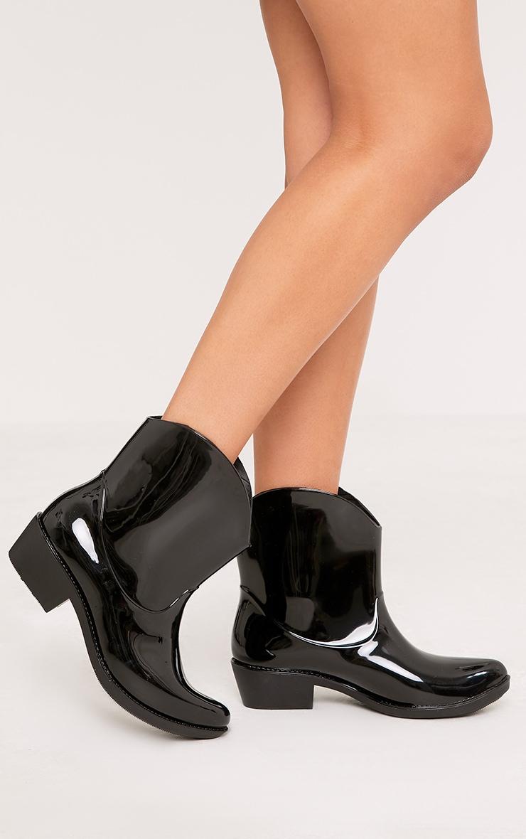 Kendrea Black Cowboy Rain Boots 3