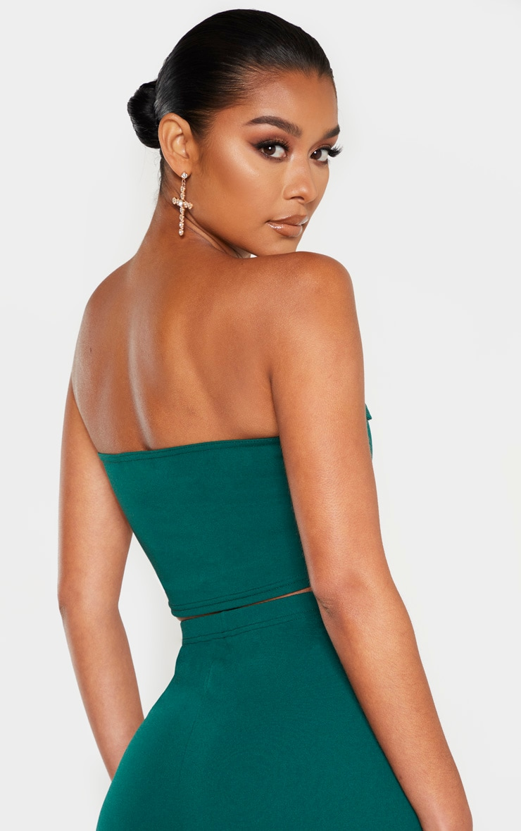 Emerald Sweetheart Bandeau Crop Top 2