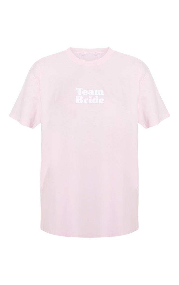 Baby Pink Team Bride Slogan T Shirt 3