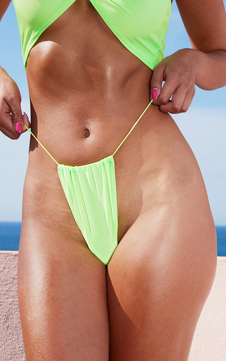 Lime Elastic Side Bikini Bottom 5