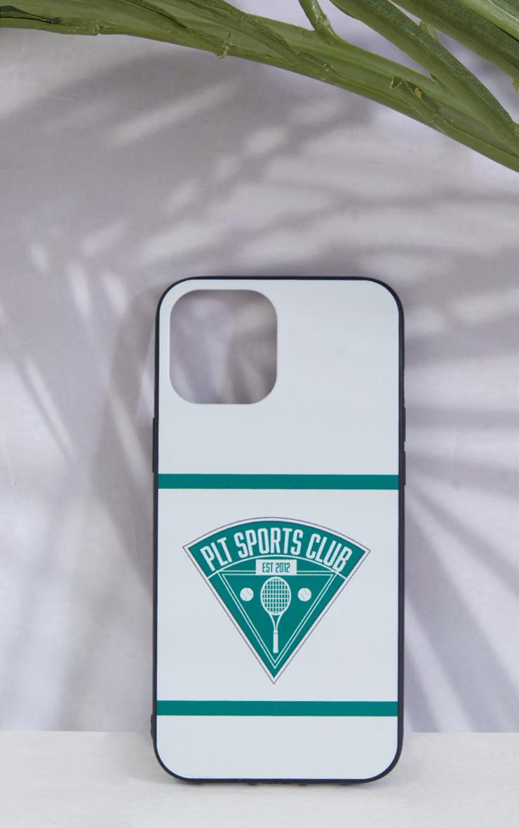 PRETTYLITTLETHING - Coque blanche à imprimé Tennis Club pour iPhone 12 Pro Max 1