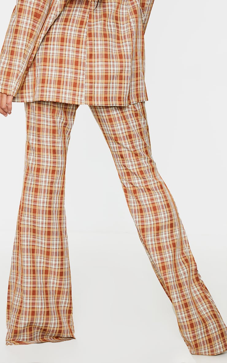 Multi Check Print Extreme Flare Trousers 3