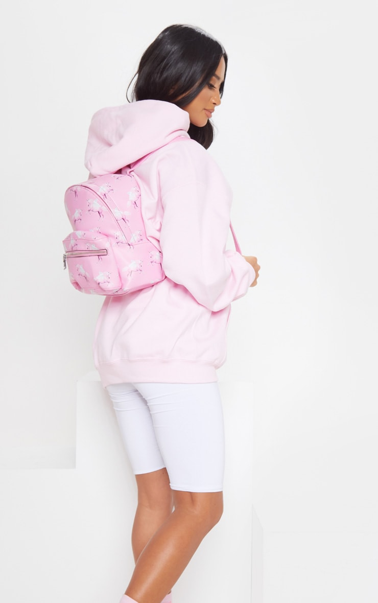 PRETTYLITTLETHING Light Pink Embroidered Oversized Hoodie 3