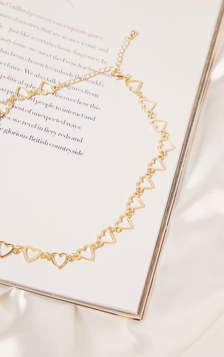 Gold Multi Mini Heart Chain Necklace 3