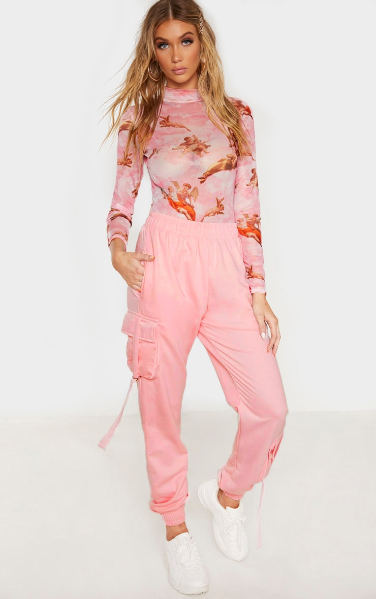 Tall Baby Pink Cargo Detail Casual Jogger 1