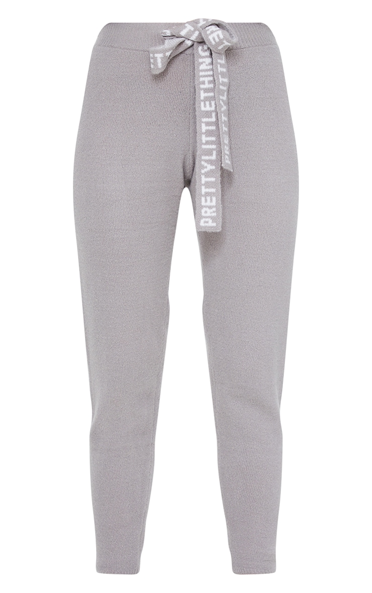 PRETTYLITTLETHING Grey Soft Knitted Joggers 5