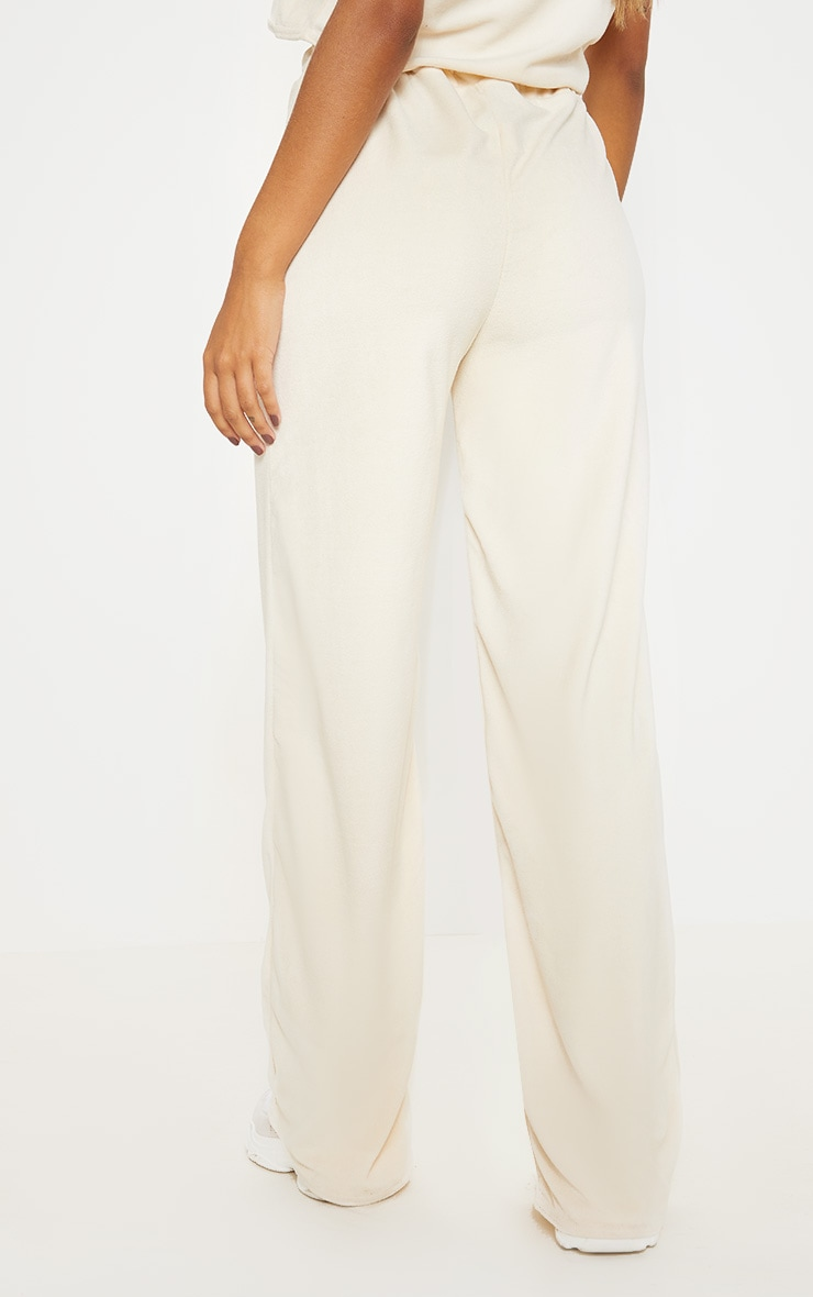 Stone Velour High Waisted Wide Leg Pants 4