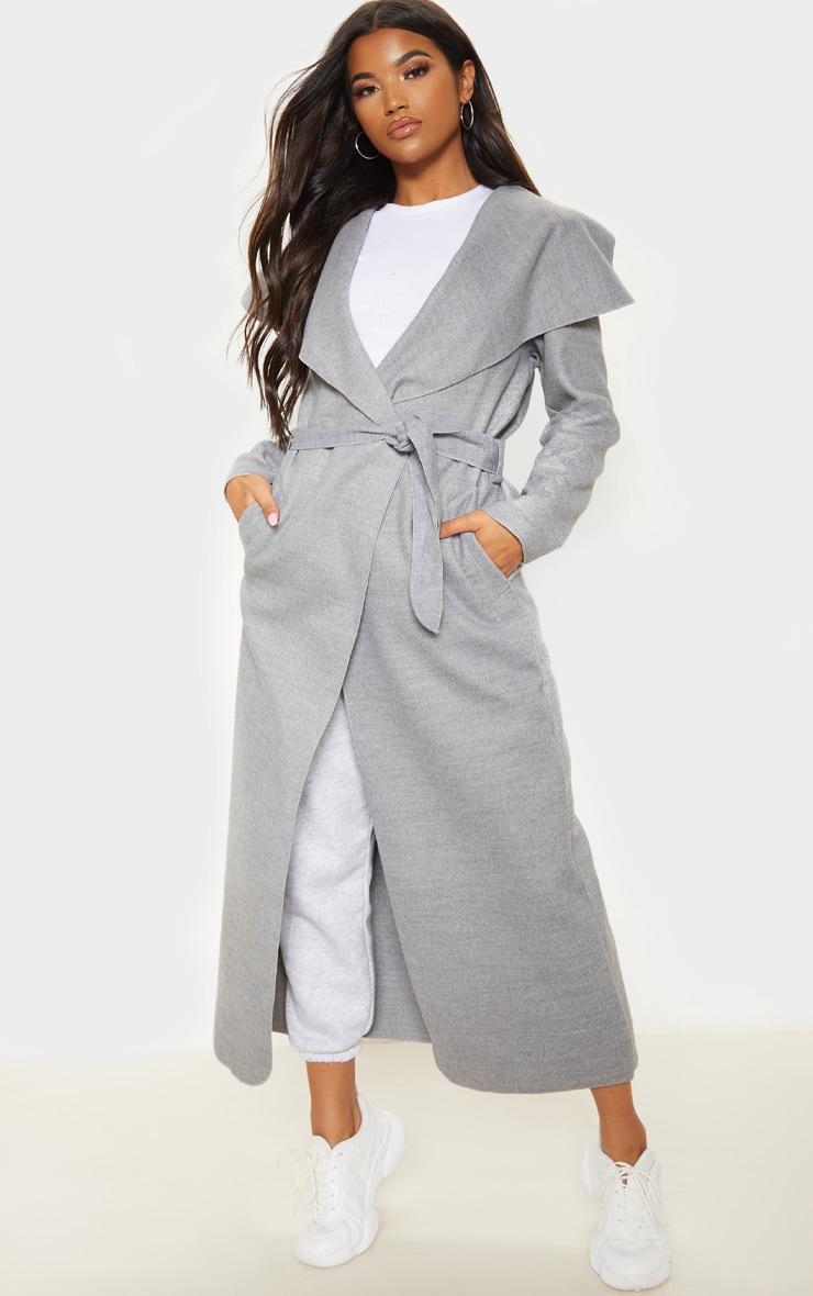 Effet cascade Manteaux femme de couleur gris