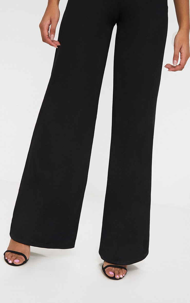 Petite Black Wide Leg Trousers 5