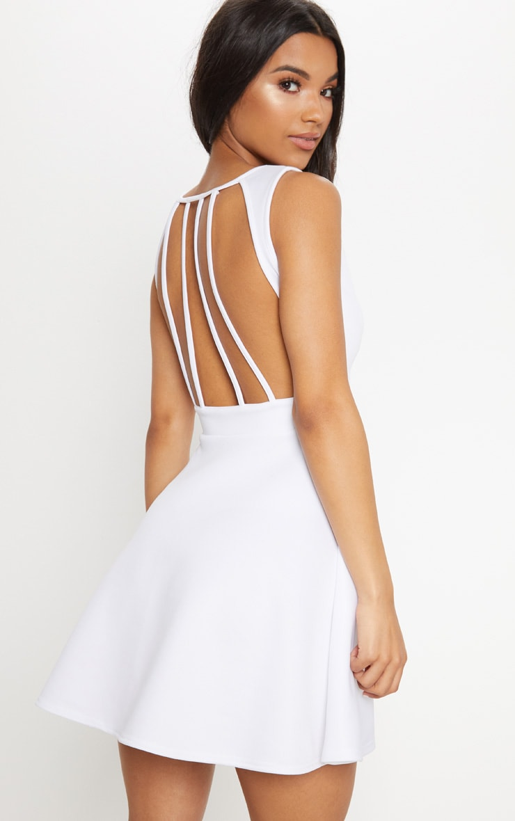 PRETTYLITTLETHING Strappy Back Skater Dress Best Choice Stockist Online Outlet Geniue Stockist Choice Cheap Price ibigGH