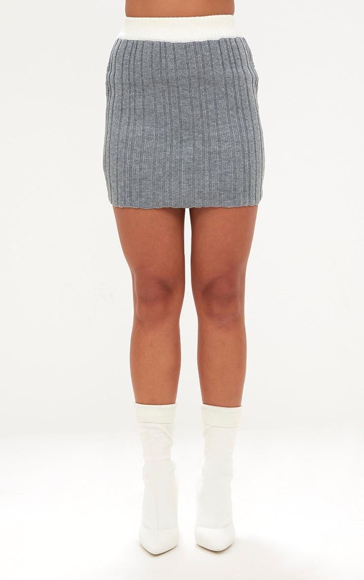 Grey Tipped Skirt Set 6