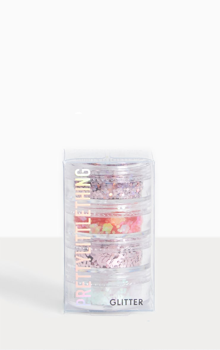 PRETTYLITTLETHING Ultimate Pink Glitter Quad 1