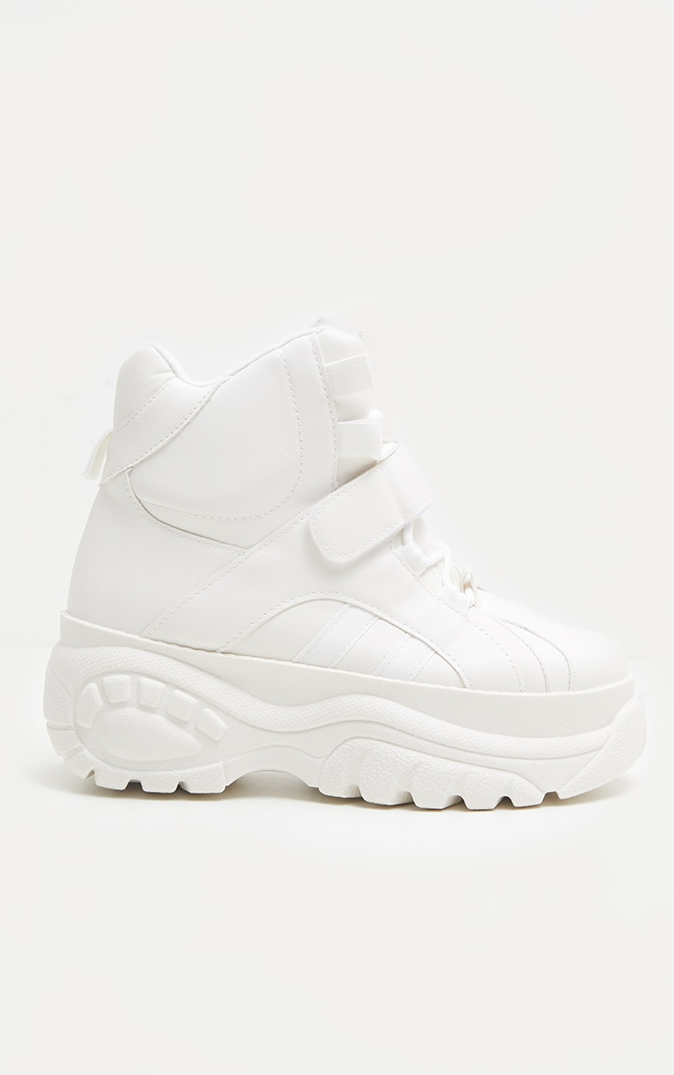 White High Top Flatform Trainer 3