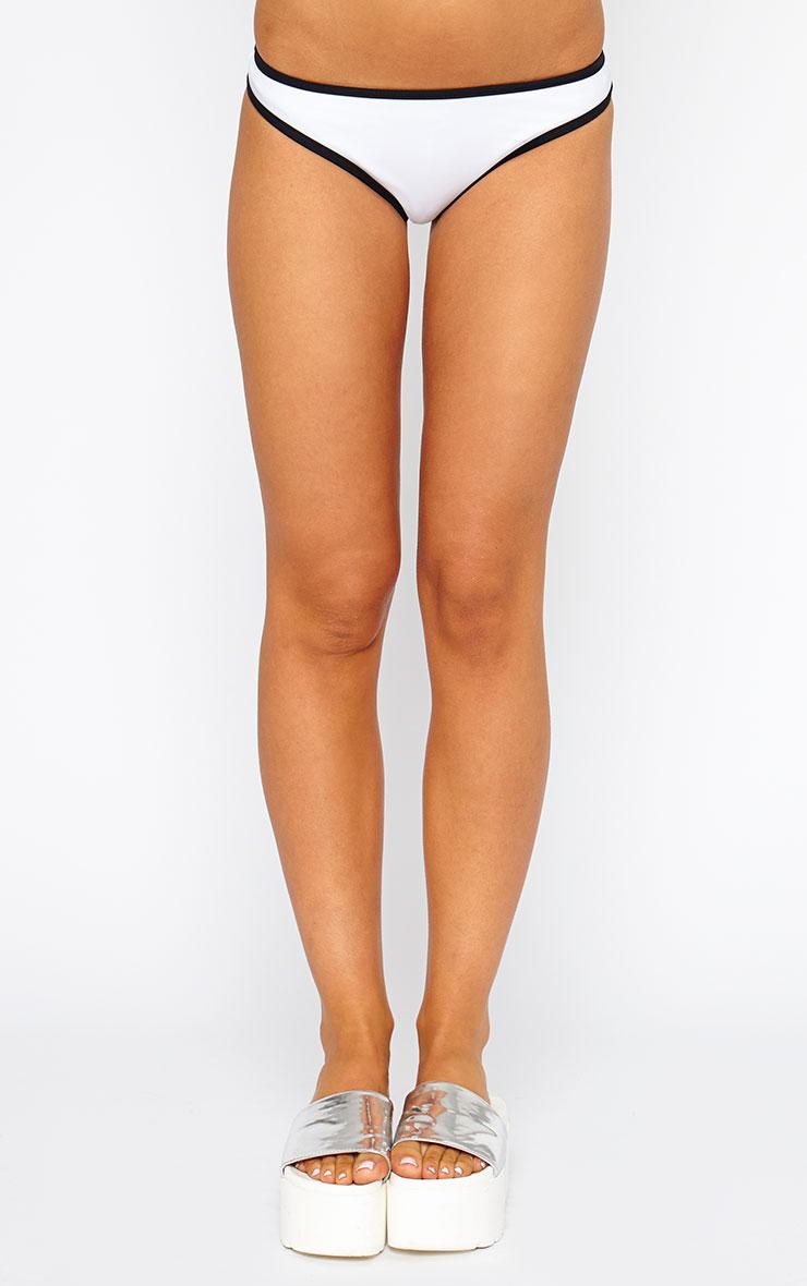 Kenia White Binding Bikini Bottoms 2