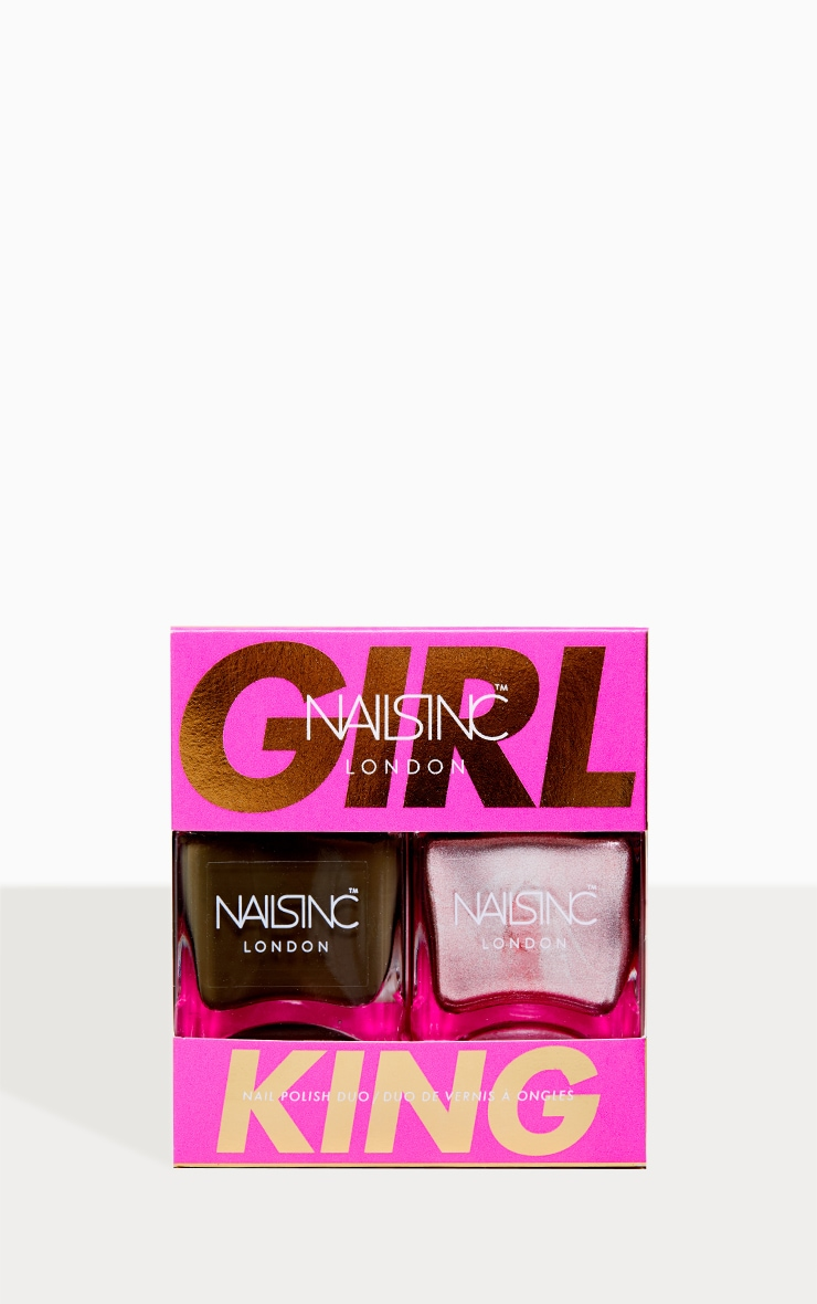 Nails Inc Sparkle Girl King Nail Polish Set 3