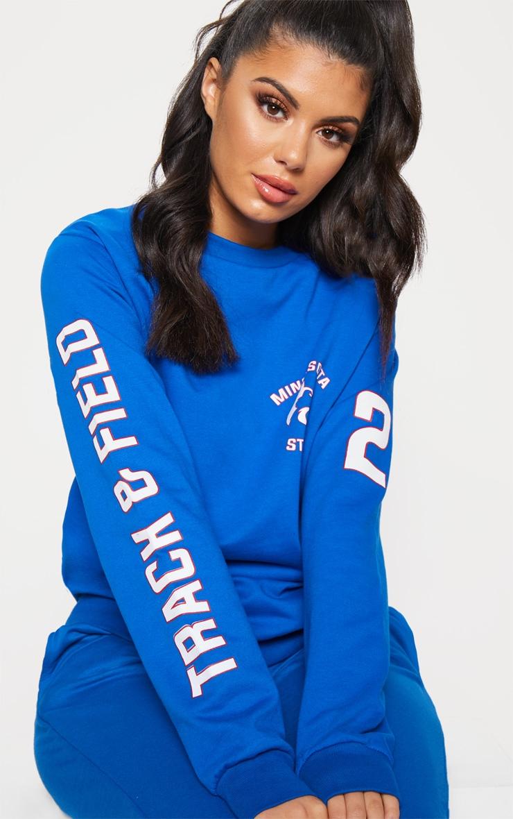 Cobalt Minnesota Slogan Oversized Sweater 5