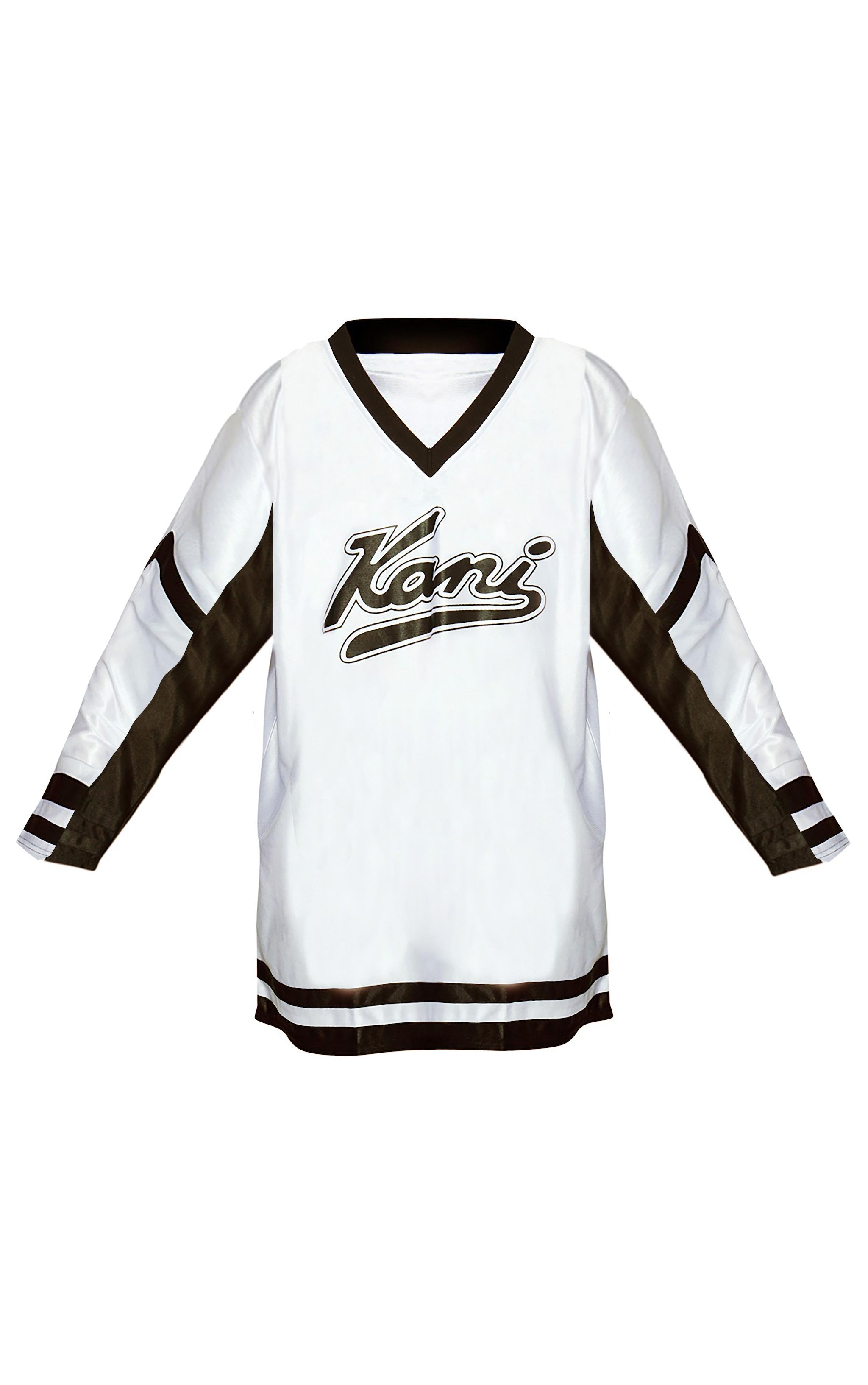 KARL KANI White Baseball Dress 3
