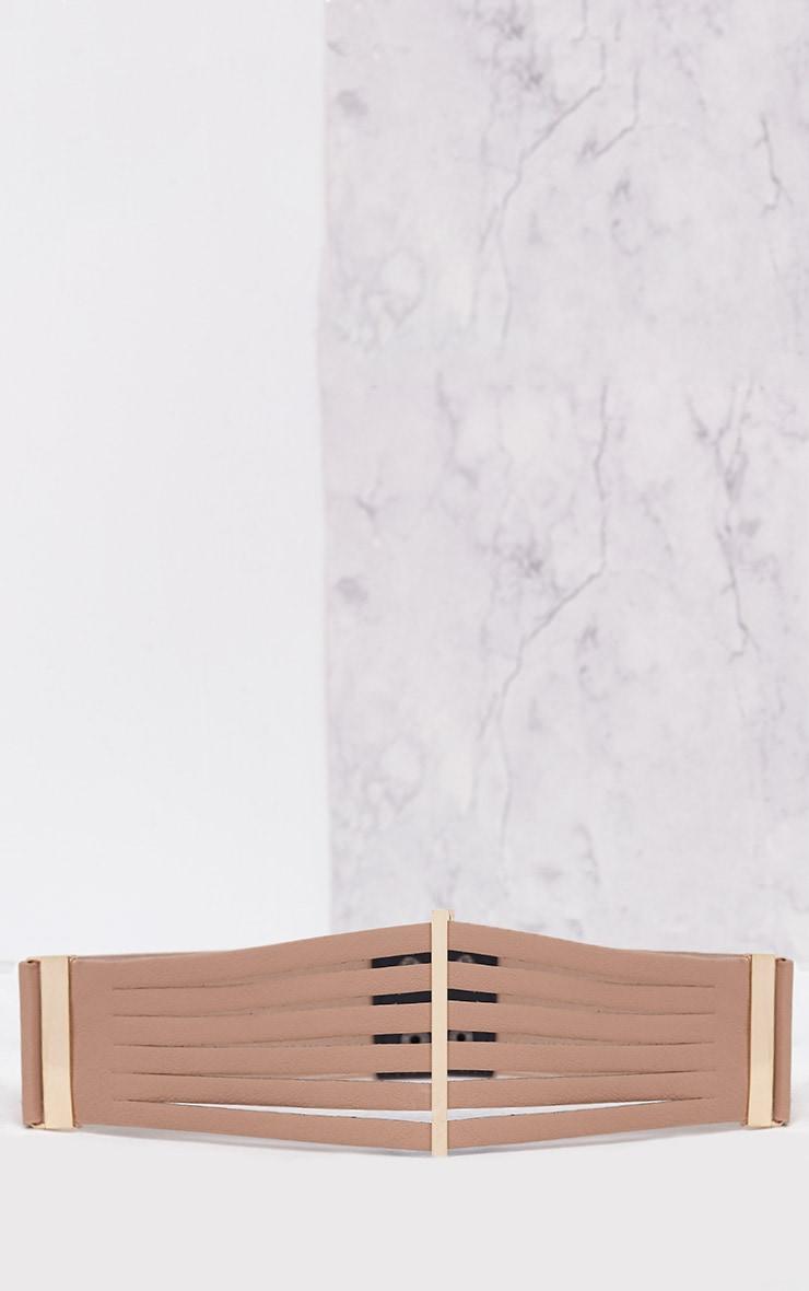 Ilena Nude Multi Strap Detail Belt 3