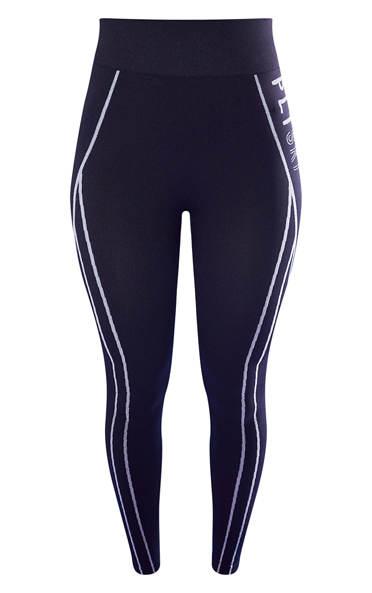 Black Seamless Ski High Waist Leggings 5