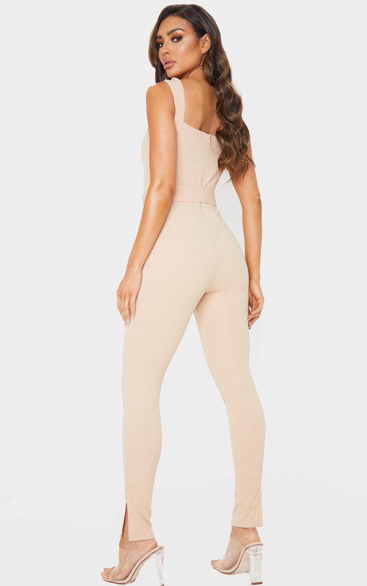 Stone Belt Detail Sweetheart Neckline Jumpsuit 2