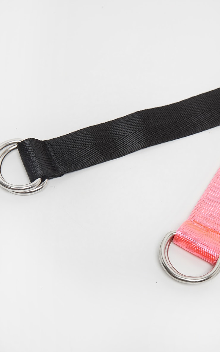 Black and Pink Skinny Taping Belt Two Pack 3