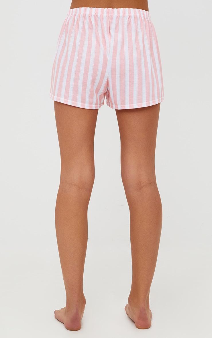 Pink Stripe Bride Strappy PJ Set 6