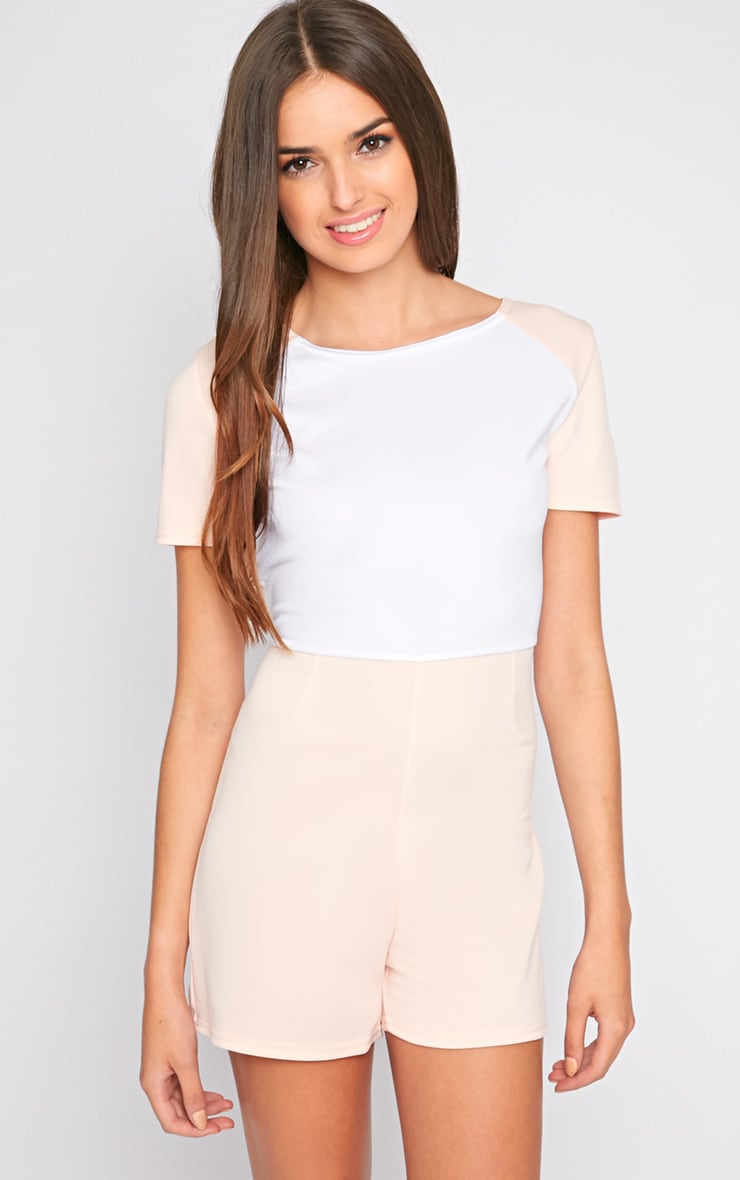 Sandra Nude Colour Block Playsuit 1