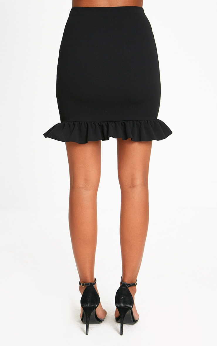 Black Corset Lace Up Midi Skirt 4