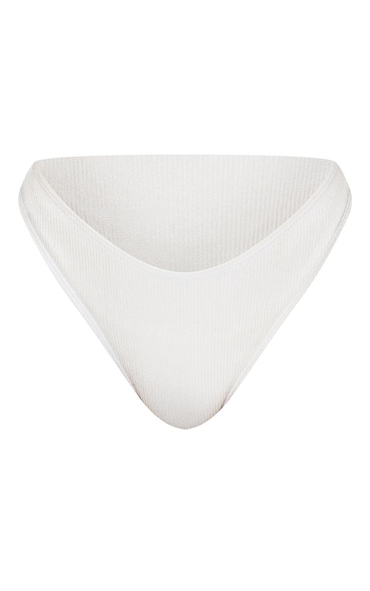Monochrome Ribbed Bikini Bottoms 5