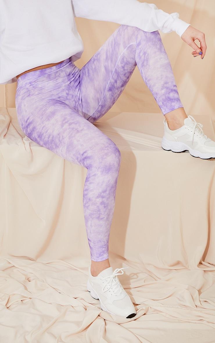 Purple Tie Dye Leggings 1