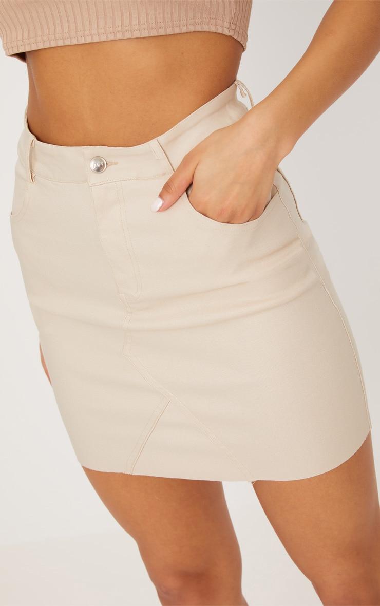 Stone Coated Denim Skirt 6