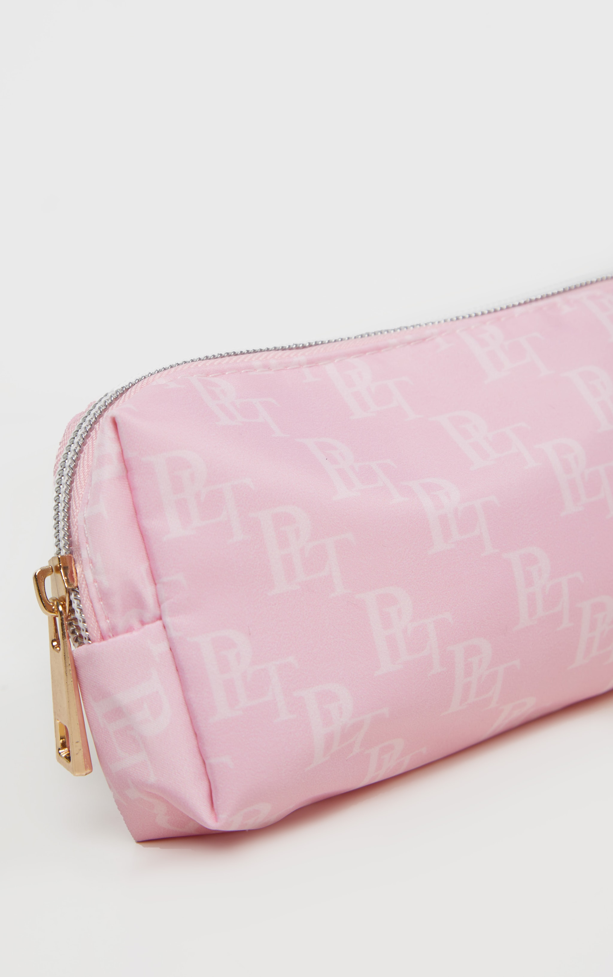 PRETTYLITTLETHING Logo Pink Pencil Case 4