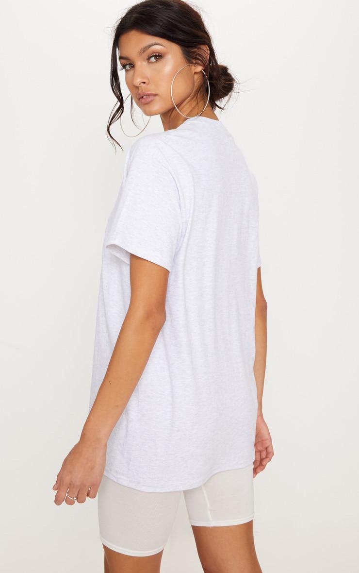 Ash Grey Malibu Embroidered Oversized T Shirt 2