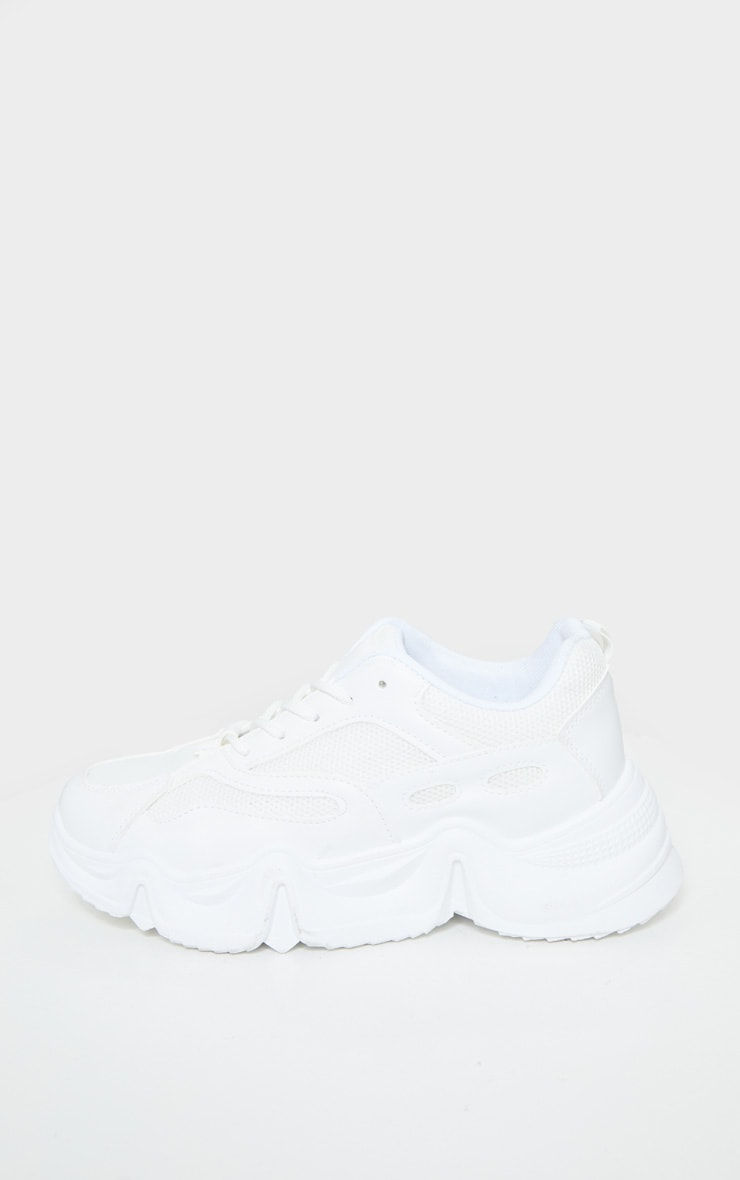 White Wave Sole Chunky Trainers 3