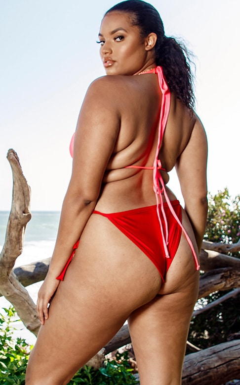 Plus Red Bikini Bottoms 2