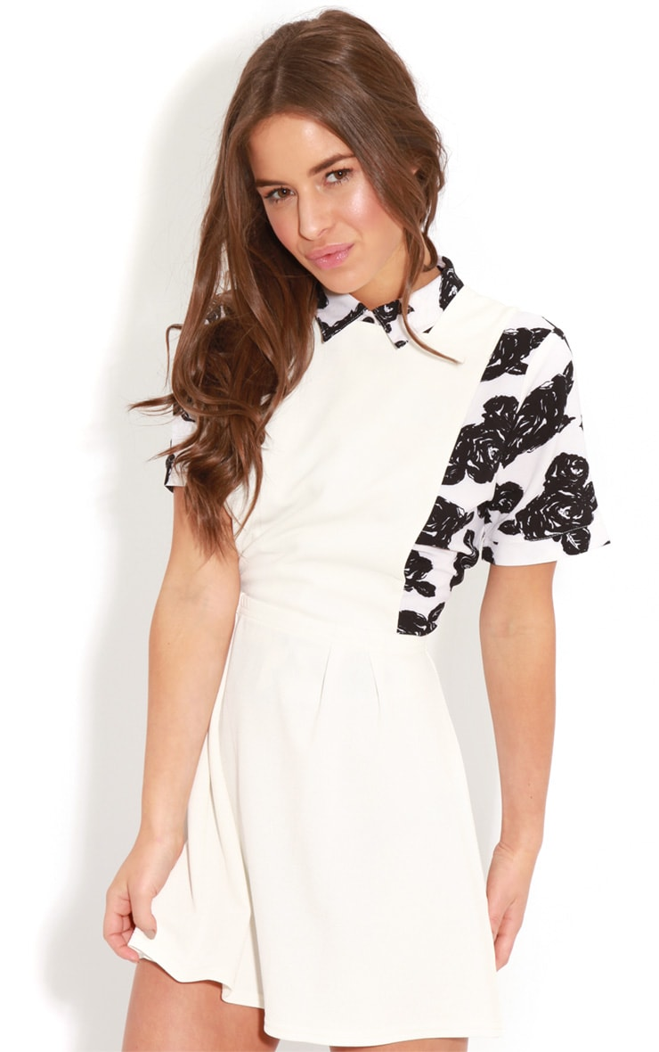 Andrea White Pinafore Skater Dress 4