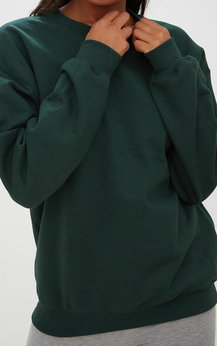 Sweat oversize vert sapin classique 5