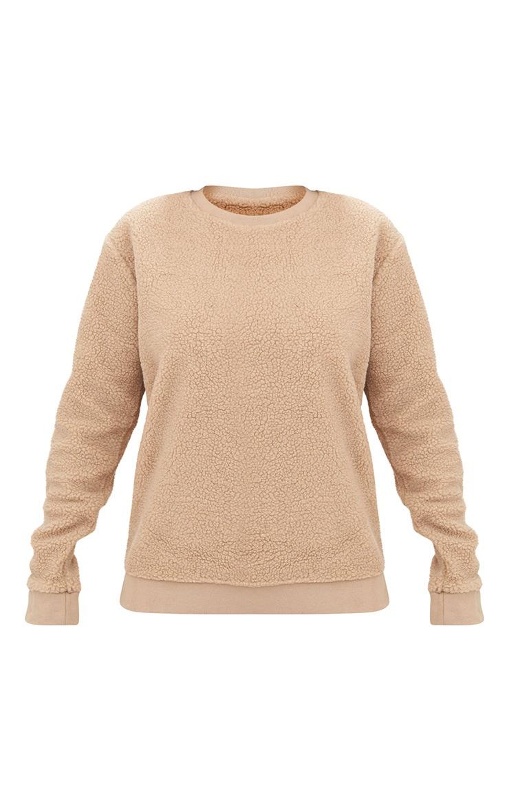 Camel Borg Sweater 3
