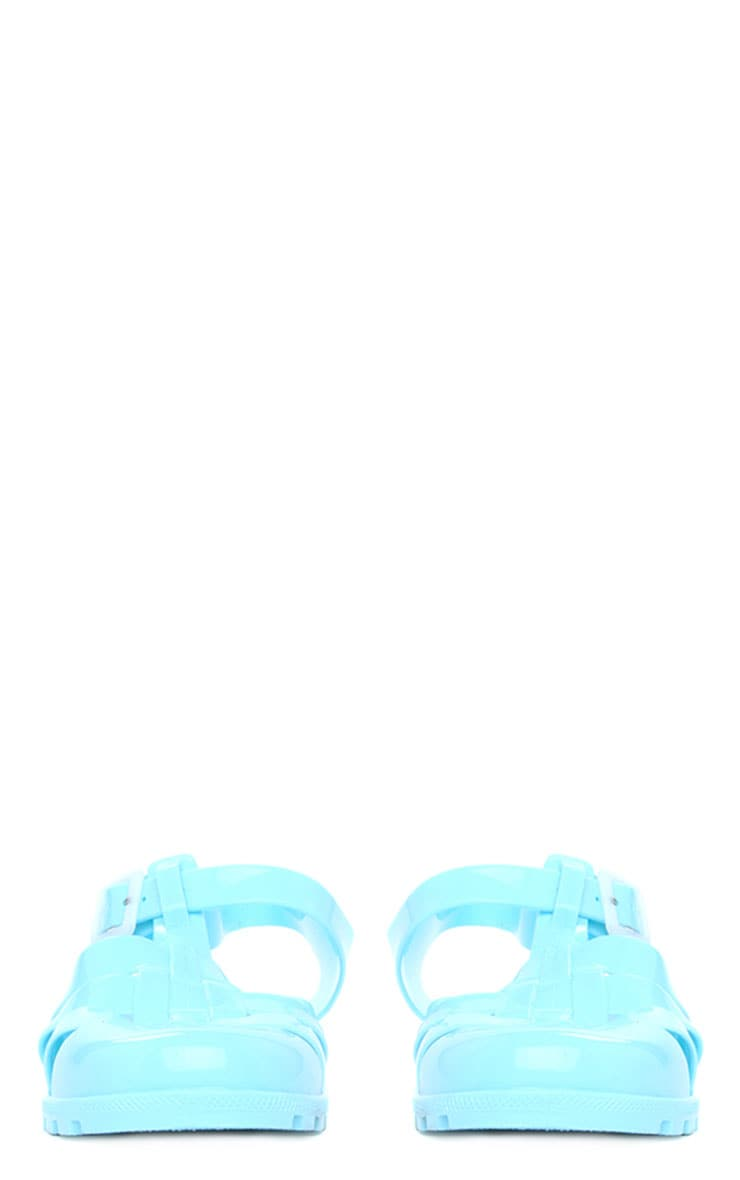 Raida Mint Flat Jelly Sandals 9