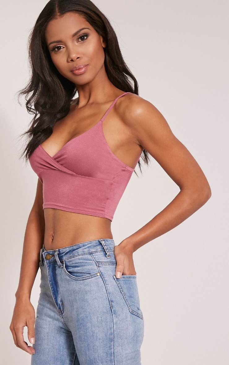 Basic Rose Jersey Bralet 4